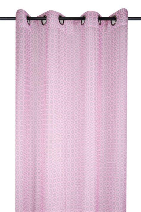 Gardinen Grau Rosa by Fertiggardine 214 Sengardine Voile Rosa Grau Muster 135x260cm