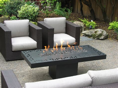 Outdoor Table With Firepit Furniture Gas Pit Table Bring Warm Nuance Into House Decoration Nu