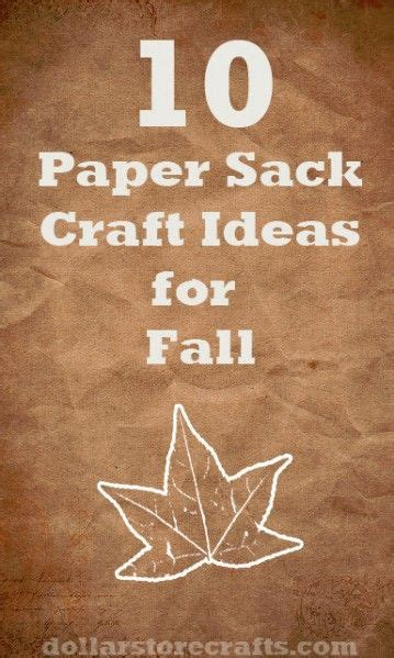 Paper Sack Crafts - paper sack craft ideas for and fall yay