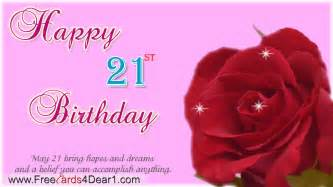 happy 21st birthday ecard greeting cards