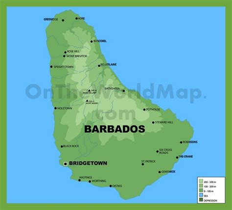 where is barbados on world map barbados physical map