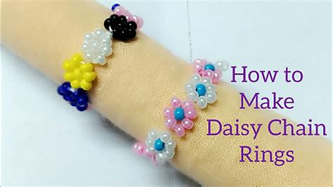 how to make chain how to make seed bead chain ring beginners diy