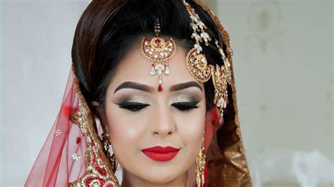 braut english asian bridal makeup traditional look youtube