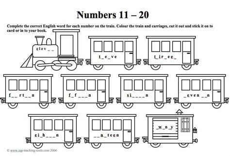 free printable math worksheets for numbers 11 20 free worksheets 187 numbers 11 20 worksheets free math