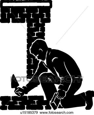 clipart muratore clip illustrazione lineart muratore mattone