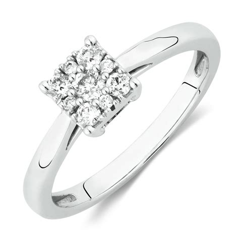 promise ring with 1 4 carat tw of diamonds in 10kt white gold