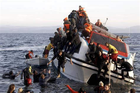 libyan refugee boat sinks greek coast guard saves 31 migrants from crippled vessel