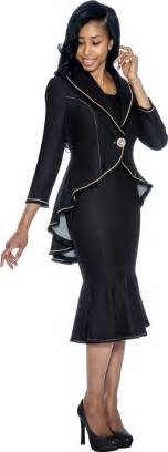 devine sport 50612 black womens church suits
