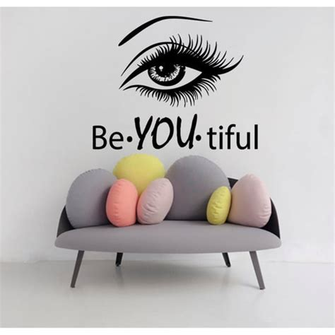 Cheap Wall Murals b you tiful beauty spa hair salon decor black sticker