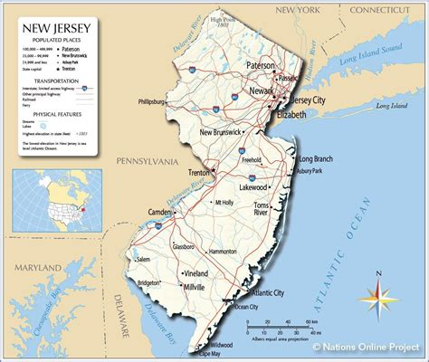 new jersey on the map of usa new jersey map fotolip rich image and wallpaper
