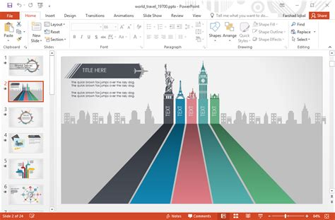 powerpoint template free download vacation animated world travel powerpoint template