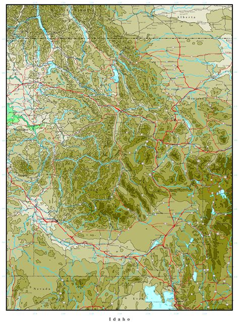 maps of idaho idaho elevation map