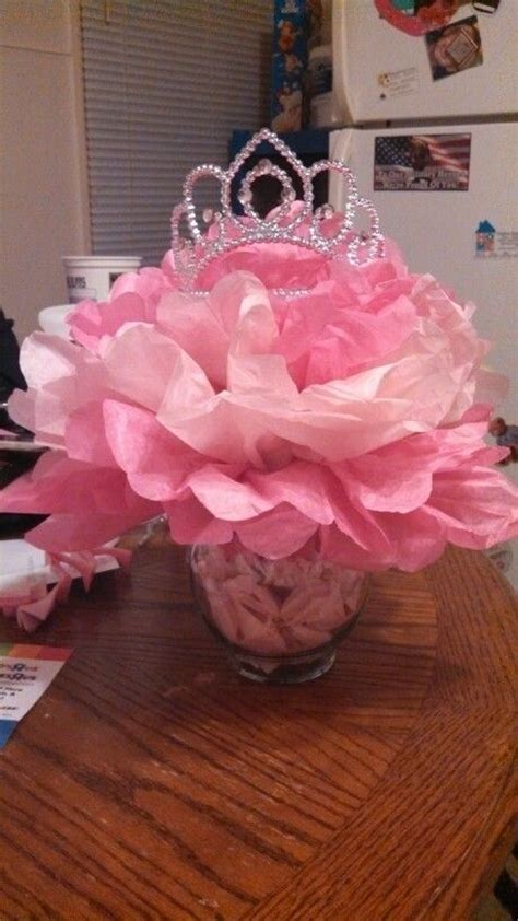 Princess Themed Centerpieces For Our Baby Shower Tutu Princess Themed Centerpiece Ideas
