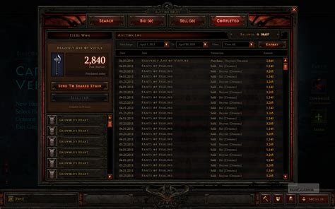 diablo 3 auction house diablo iii auction house and interface eurogamer net