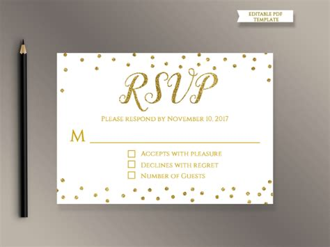 18 wedding rsvp card templates editable psd ai eps