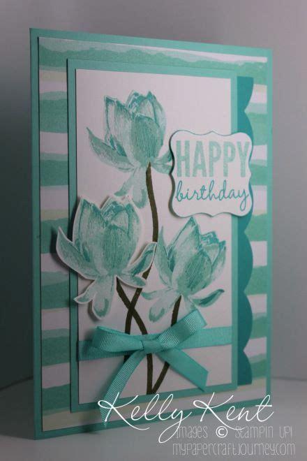 Lotus Handmade Cards - lotus blossoms handmade birthday cards and stin up on
