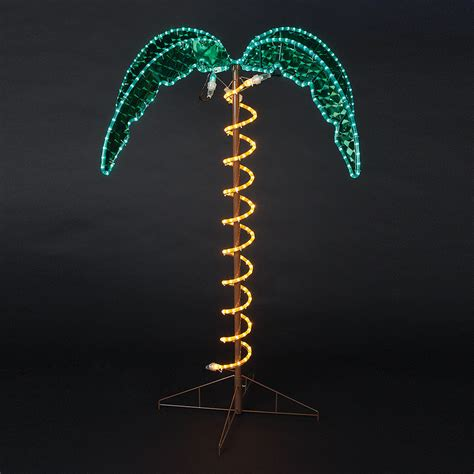 4 5 Pre Lit Rope Light Palm Tree Palm Tree Ropelights Lighted Trees Artificial