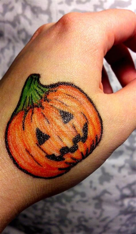 jack o lantern sharpie tattoo by fyreflye26 on deviantart