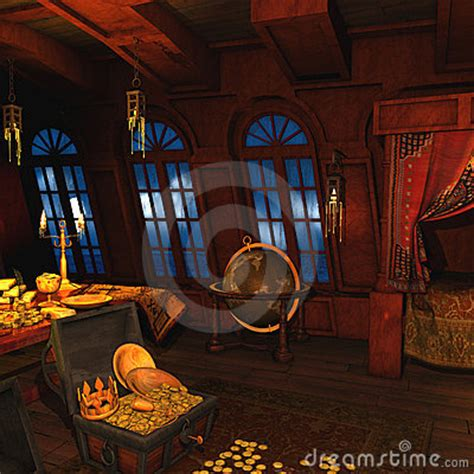 Is Back Room Real by Pirate Captains Cabin Stock Photo Image 12758730