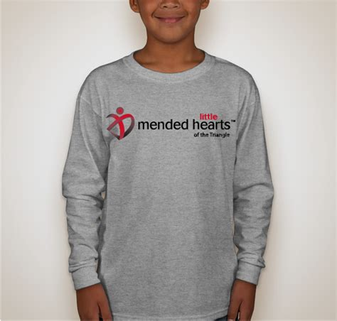 T Shirt Cotton Gildan Triangle fundraiser for triangle mended hearts custom ink