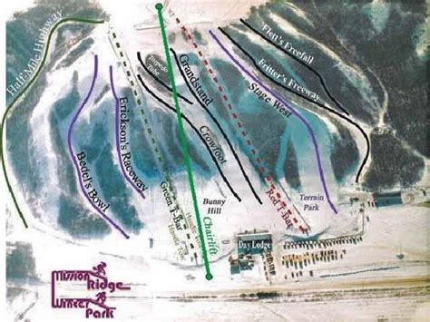 Winter Park Sweepstakes - trail map mission ridge winter park panorama
