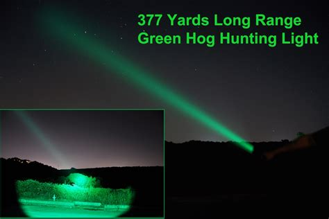 green light for hog m30c green or 700 lumen 377 yards range hog