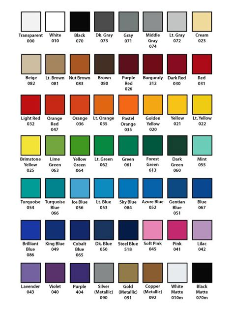 oracal 651 vinyl color chart oracal 651 color chart graphic design