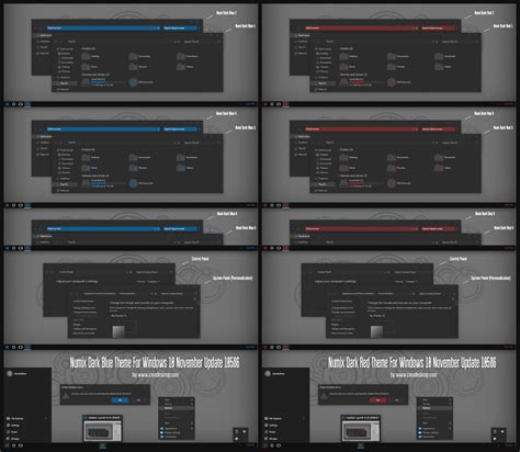 numix theme for windows 10 rtm numix dark blue and red theme for windows10 november