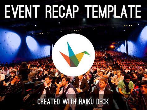 event recap template by reusable template