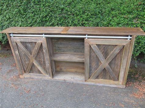 barn door console table custom built sliding barn door cabinets reuse