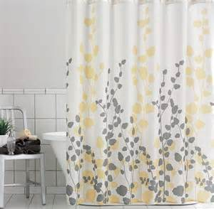 yellow and gray shower curtain best curtains design 2016