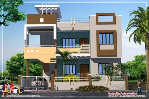 Modern House Plans India Contemporary India House Plan 2185 Sq Ft Indian Home Decor