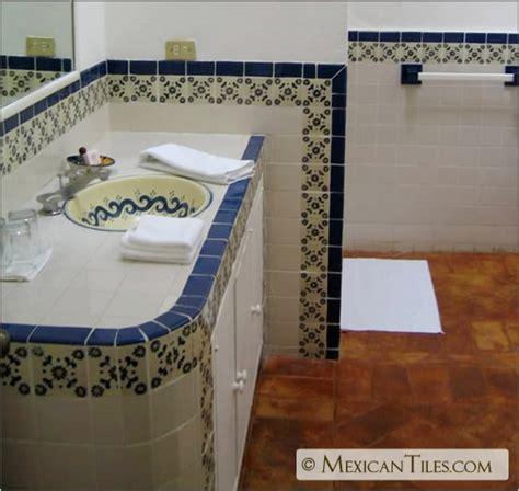 mexican tile bathroom designs mexicantiles com bath with blue marguerite
