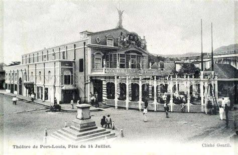 port louis the theatre 1910 vintage mauritius