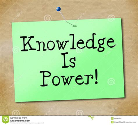 L Of Knowledge Meaning by Knowledge Is Power Shows Educate And Learn Stock Illustration Illustration 44993465