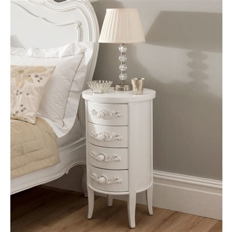 La Rochelle Antique French Bedside Shabby Chic Furniture Bedside Tables Shabby Chic Style