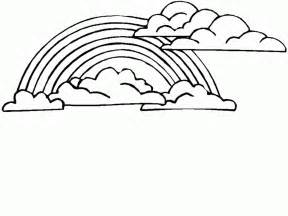 rainbow pictures to color free printable rainbow coloring pages for