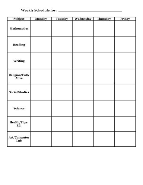 activity timetable template daily activity timetable template heegan times