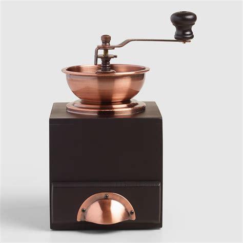 Coffee Grinder copper vintage style burr coffee grinder world market