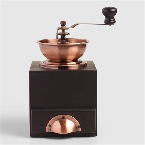 Copper Vintage Style Burr Coffee Grinder   World Market