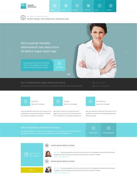 html responsive template 35 free premium business website templates