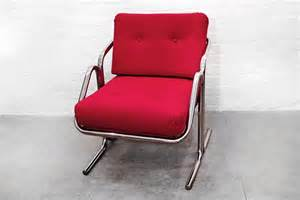 jerry johnson arcadia chrome sling chair 1970s for sale