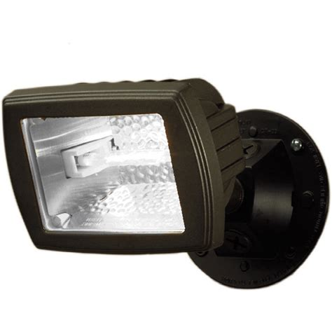 Halogen Outdoor Flood Lights Shop Utilitech 5 5 In 1 Halogen Bronze Switch Controlled Flood Light At Lowes