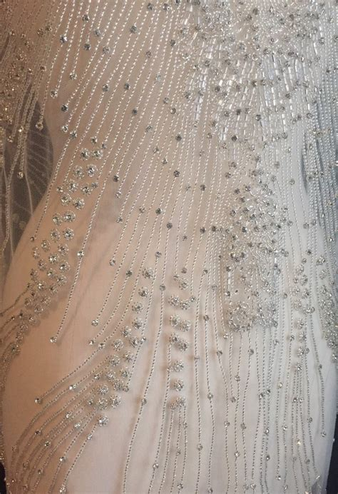 beaded fabric rhinestone fabric beaded fabric length wedding