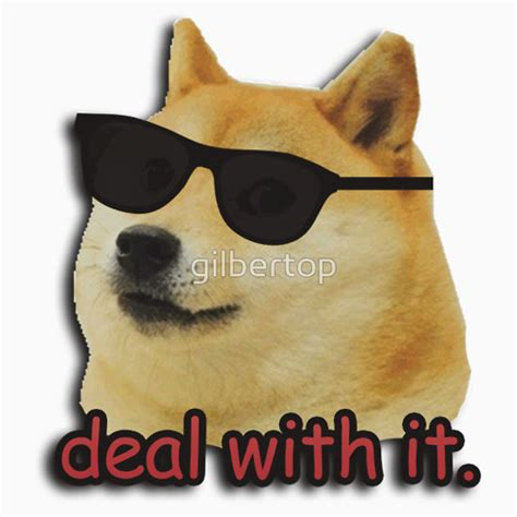 Next Home Wall Stickers quot doge deal with it dog meme quot stickers by gilbertop redbubble