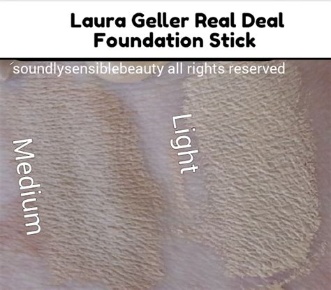 laura geller cover foundation swatches laura geller real deal stick foundation spf 15 review