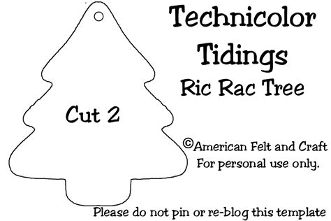 felt tree template technicolor tidings diy felt and ric rac tree
