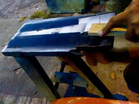 Gagang Gergaji Triplek cara mudah memotong manual gagang stempel oval dengan