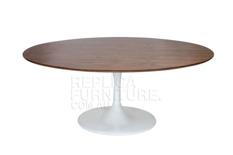 wooden dining table replica eero saarinen oval table in
