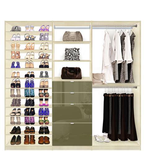 Hanging Closet Drawers by Isa Custom Closet Shoe Storage Drawers And Hanging Closet System Contempo Space